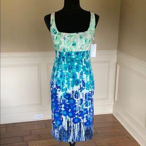 Calvin Klein Sleeveless Pattern Sheath Dress NWT